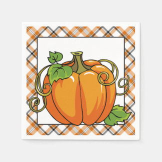Fall Pumpkin seasonal paper napkins