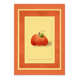 Fall Pumpkin Simple Tailored Card