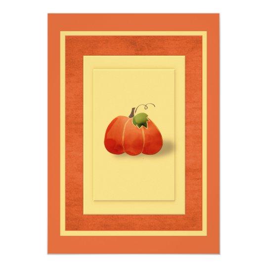 Fall Pumpkin Simple Tailored Card