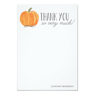 Fall Pumpkin | Thank You Note 9 Cm X 13 Cm Invitation Card