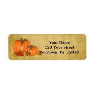 Fall Pumpkins Address Label