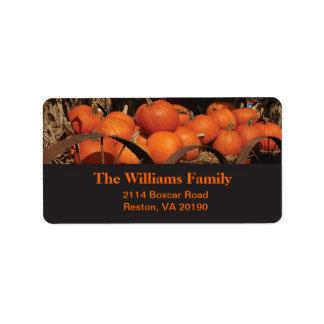 Fall Pumpkins - Black Design Label