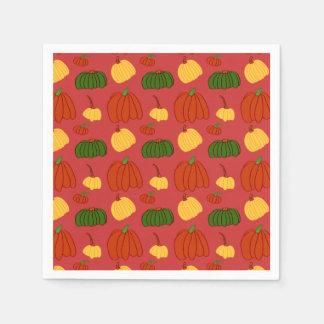 Fall Pumpkins: Cocktail Napkins Disposable Serviettes