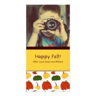 Fall Pumpkins: Customized Photocard #2 Photo Card Template