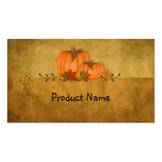 Fall Pumpkins Hang Tag Pack Of Standard Business Cards