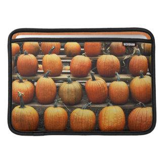 Fall pumpkins MacBook sleeves