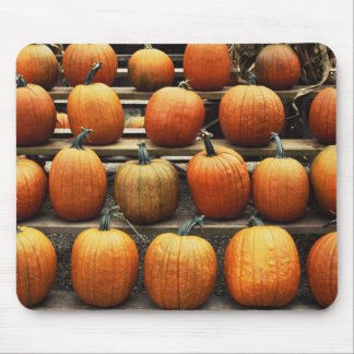 Fall pumpkins mouse mat