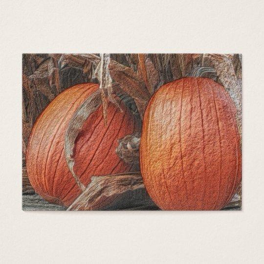 Fall Pumpkins Nature Art Business Card