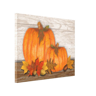 Fall Pumpkins Wrapped Canvas Gallery Wrap Canvas