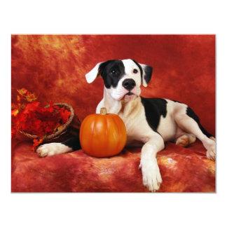 Fall puppy 11 cm x 14 cm invitation card