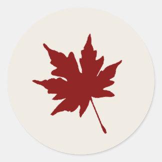 Fall Red Leaf Sticker