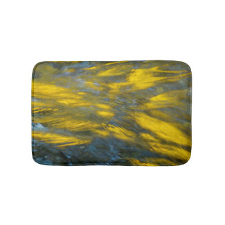 Fall Reflections in Gray and Yellow Bath Mats