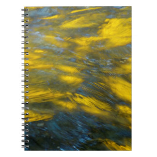 Fall Reflections in Gray and Yellow Notebook