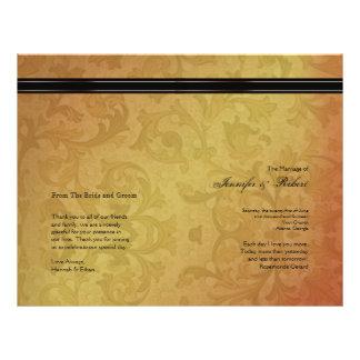 Fall Regency Wedding Program Custom Flyer