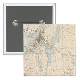 Fall River, Massachusetts 15 Cm Square Badge
