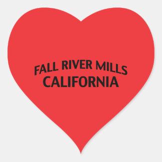 Fall River Mills California Heart Sticker