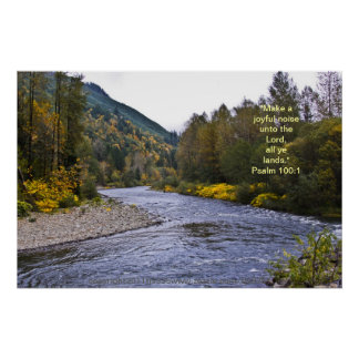 Fall River Poster w/Scripture Verse