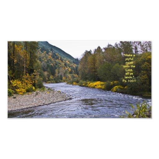 Fall River Print w/Scripture Verse Art Photo