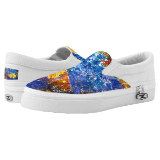 Fall River watercolor slip on shoes