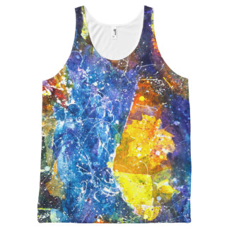 Fall River watercolor tank top All-Over Print Tank Top