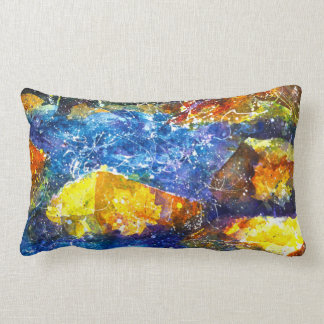 Fall River watercolor throw pillow