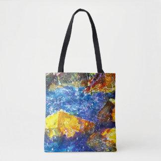 Fall River watercolor tote bag