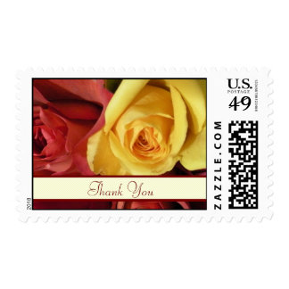 Fall Roses Thank You Postage Stamps