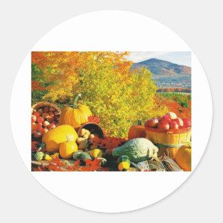 fall round sticker