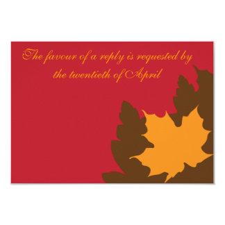 Fall RSVP 9 Cm X 13 Cm Invitation Card