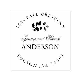 Fall Rubber Address Stamp