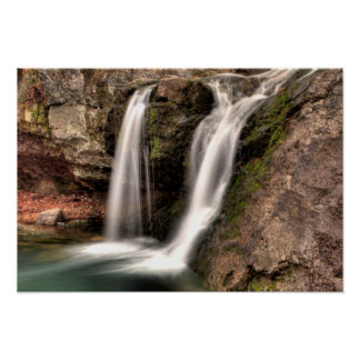 Fall Run Falls, Lake Catherine State Park, AR Poster