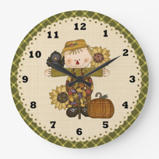 Fall Scarecrow clock