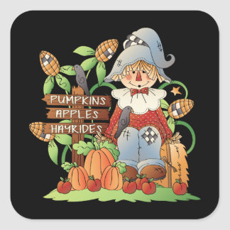 Fall Scarecrow Seasonal fun stickers