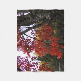 Fall Scenery Fleece Blanket