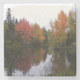 Fall Scenery Marble Coaster