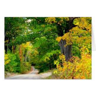 Fall Season All Occasion Message Note Card