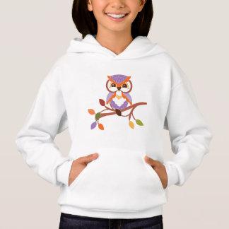 Fall Seasonal owl girls hoodie