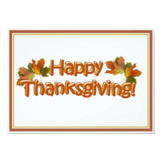 Fall Seasons Best Happy Thanksgiving Text 13 Cm X 18 Cm Invitation Card