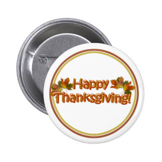 Fall Seasons Best Happy Thanksgiving Text 6 Cm Round Badge