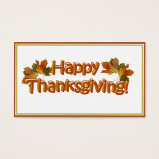Fall Seasons Best Happy Thanksgiving Text Business Card