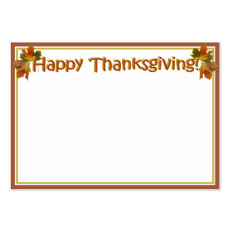 Fall Seasons Best Happy Thanksgiving Text Business Cards