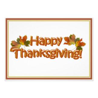 Fall Seasons Best Happy Thanksgiving Text Invite