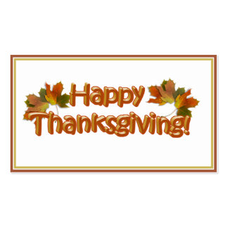 Fall Seasons Best Happy Thanksgiving Text Pack Of Standard Business Cards