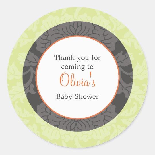 Fall Shower Favour Sticker