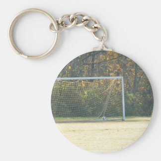 Fall Soccer Basic Round Button Key Ring
