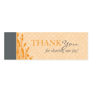 Fall Sophisticate TY Skinny Card Business Card Templates