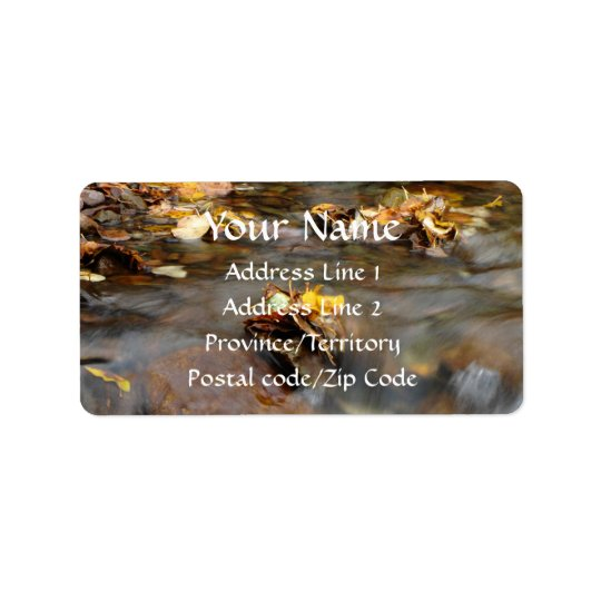 Fall Stream Address Label