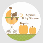 Fall Stroller Baby Shower Stickers Stickers