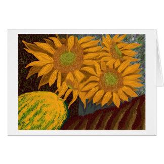 Fall Sunflowers Card