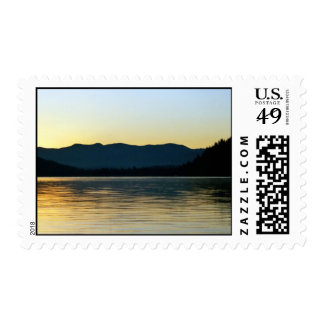 Fall Sunrise on Donner Lake, CA - Customized Postage Stamp